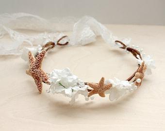 Beach Wedding Hair Accessory, headpiece, destination Wedding, starfish, bohemian, rustic- MARYMAR- summer, hair accessories