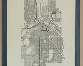Minneapolis City Map Poster