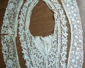 Three Antique Lace Collars, Lace Lot, Cutter Lot