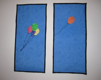 Balloons in the Wind, art quilt
