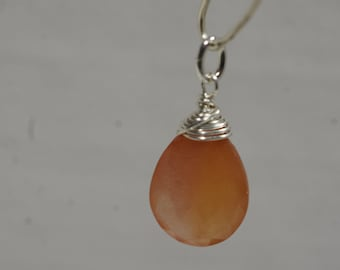 Red Agate Wire Wrapped Pendant,Gemstone Pendant - add a dangles drop