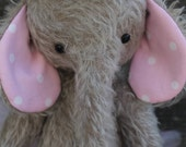 RESERVED for Claudia, Mohair Elephant