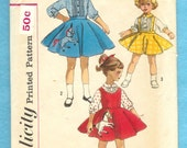 Vintage 1957 Simplicity 2287 Poodle Skirt and Jumper and Blouse Child's Size 1