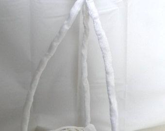 White and Gold Flower Girl basket Ring Wedding Basket, Bridal Ceremony, Table Decor
