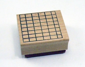 Grid Background Rubber Stamp