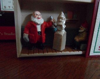Santa's Studio-Hallmark Ornament 1991