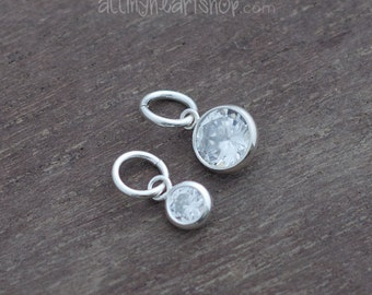 Cubic Zirconia Sterling Silver Charm Add On
