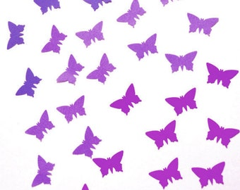 Handpunched butterflies in the shades of purple, violet, lavender, lilac