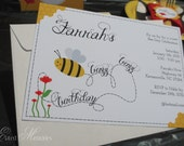 Buzz Buzz Party Invitation - Birthday Party - DIY Bumble Bee Printable Party