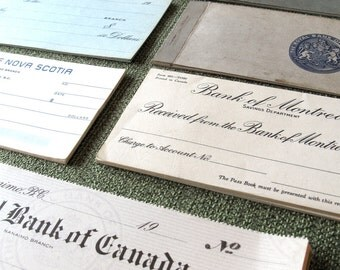 1920s to 1960s Amazing Unused Checks / Cheques Collection