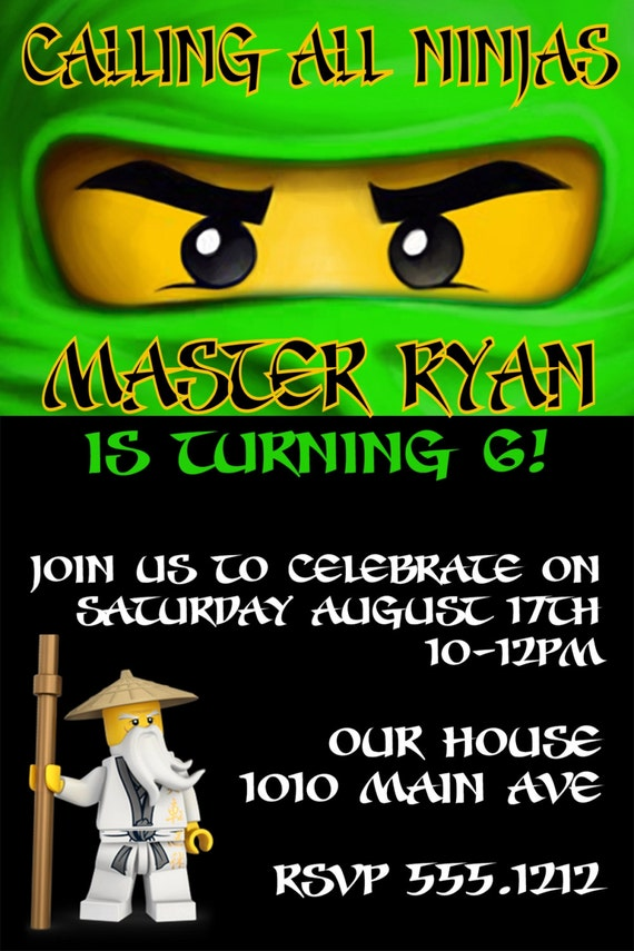Ninjago Birthday Invitations is great invitation ideas