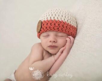 boys hat, baby hat, baby boy hat, newborn hat, newborn boys hat, button hat