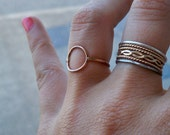 14k Rose Gold Fill Karma Ring, Eternity Ring, Infinity Ring - Stacking Ring, custom made to order