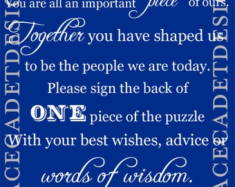 Wedding Printable Puzzle Guestbook Sign Digital File
