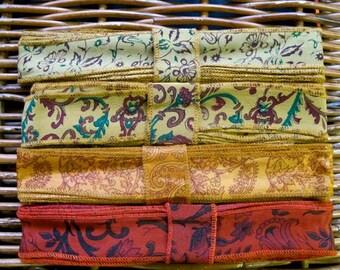 Silk Sari Ribbon, Silk Trim, 4 colors, R44
