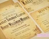 Wedding Invitation - Vintage Style