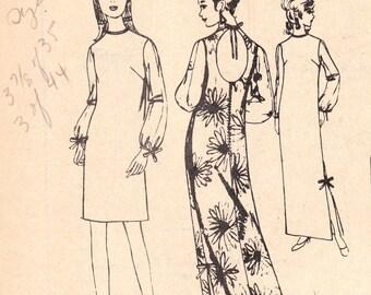 Kalea Open Back Dress Polynesian Pattern 190 Size 16 Uncut