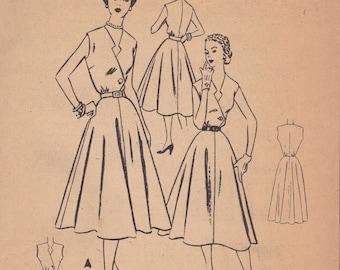1950s Awesome Summer Dress Pattern McCalls 8945 Size 12 Uncut