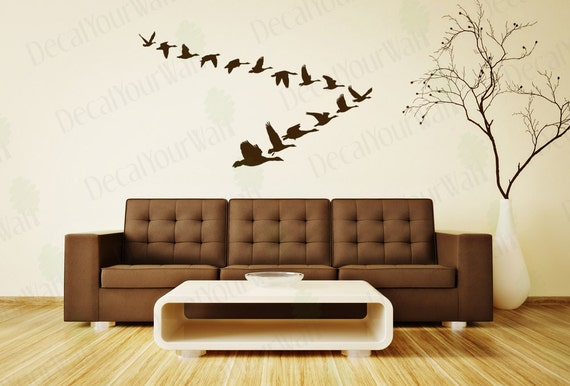 Flying Geese Birds Removable Vinyl Wall Decal Sticker Wall Art Home Decor