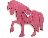 """The """"Perfect Pink Mare"""" designer wall mounted clock from LeLuni"""