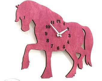 "The ""Perfect Pink Mare"" designer wall mounted clock from LeLuni"