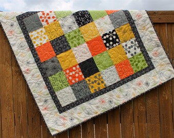 Giraffe Crossing Brown Baby Boy Quilt Whole Cloth By