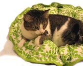 Nest Pet Bed and Mat CUSTOM 28 In Round Dog Cat Couture Travel Reversible Foldable Washable
