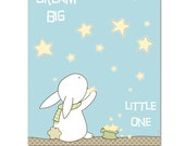 Dream big little one nursery art, boys girls room decor