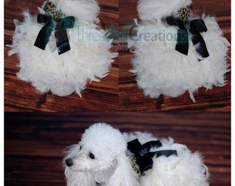 Dog Feather Dress - Dog Dress