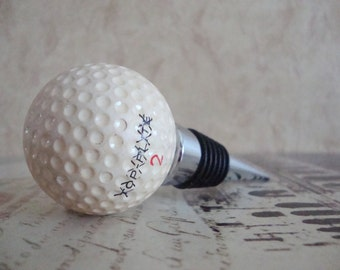 Wine Bottle Stopper - Vintage Top Flite 2X Golf Ball Wine Stopper