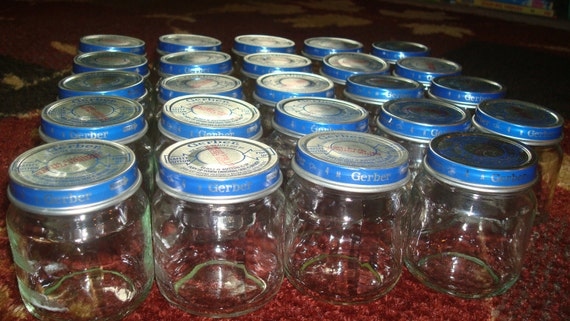 Empty Baby Food Jars Lot of 30 Empty Gerber...