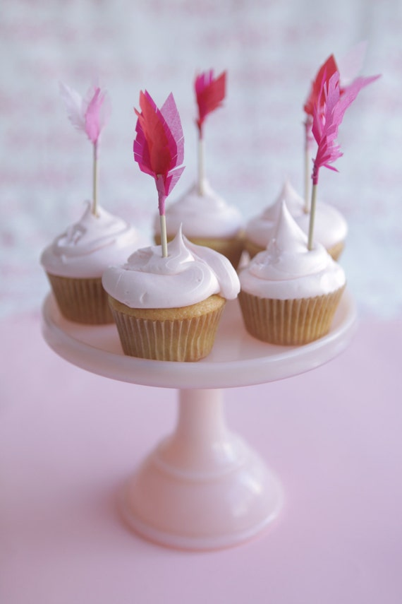 valentine's cupid's arrow cupcake toppers pinks by chiarabelle