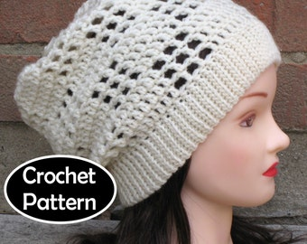 CROCHET HAT PATTERN Instant Download - Matrix Slouchy Beanie - Permission to Sell