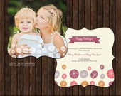 INSTANT Download Luxe 5x5 Christmas / Holiday Card Template - H25