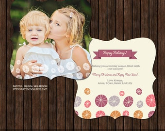 Luxe 5x5 Christmas / Holiday Card Template - H25