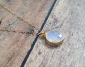 Rainbow Moonstone Necklace » 14K Gold Filled