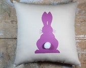 Easter Pillow, Purple Bunny, Peter Cottontail, Easter Decor, Easter Cottage Decor