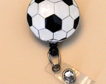 Soccer Pendant Badge Reel Cover