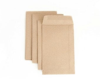 "10 pcs - 4.5 x 7"" Rustic paper envelopes - Recycled paper envelopes"