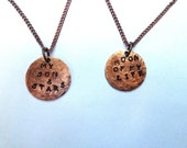 """Game of Thrones Inspired Pendants """"Moon of my life"""" """"My sun and stars"""""""