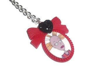 Cynthia Cameo Necklace, Angelica's Doll Rugrats, Kitsch 90's