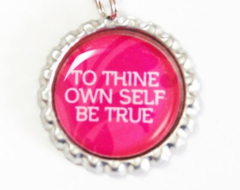 Bookmark, book mark, Shepherd Hook, To Thine Own Self Be True, Pink, Pink Bookmark, Inspirational (2793)