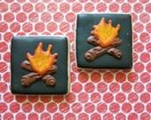 Campfire Bonfire Sugar Cookies - 1 Dozen