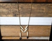 "The Cherokee Necklace - 28"" antique brass chain"