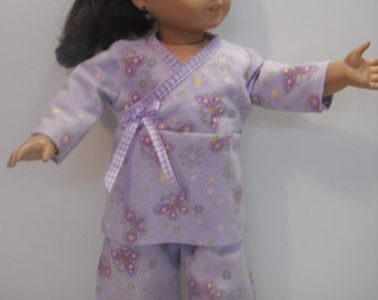 "Pajamas for American Girl doll and other 18"" dolls."