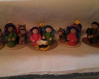 Polymer clay - Desert  Nativity Scene