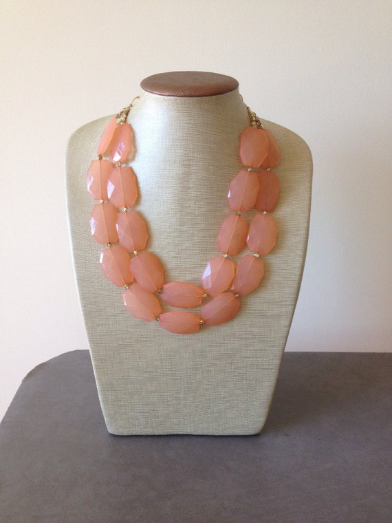 Just Peachy Statement Necklace
