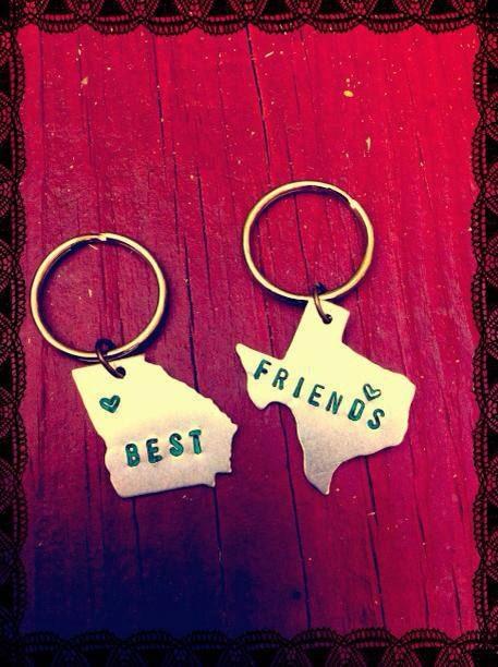 custom best friends state keychain set by wingostarrjewelry