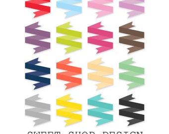 Banner Clip Art, Ribbon Clip Art, Border Clip Art, Digital Clip Art, N06GRF, Instant Download