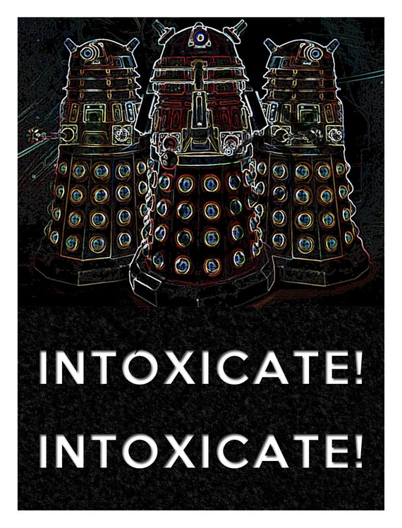Items similar to Doctor Who Dalek Exterminate Wine Label ...